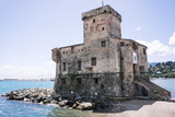 Castle Overlooking the Bay, Rapallo, Liguria, Italy, Europe Photographic Print by Peter Groenendijk