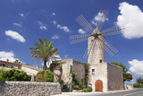 Restaurant in a Windmill, Sineu, Majorca (Mallorca), Balearic Islands, Spain, Mediterranean, Europe Fotografisk tryk af Markus Lange