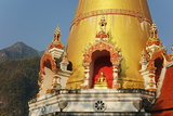 Buddhist Temple and Doi Chiang Dao, Chiang Dao, Chiang Mai Province, Thailand, Southeast Asia, Asia Photographic Print by Jochen Schlenker