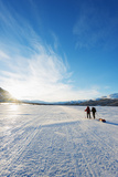 Ski Touring on Kungsleden (The Kings Trail) Frozen Lake Photographic Print by Christian Kober