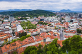 Aerial View of Ljubljana City, Seen from Ljubljana Castle, Slovenia, Europe Photographic Print by Matthew Williams-Ellis