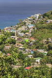 Hillside Village by the Sea, St. Lucia, Windward Islands, West Indies, Caribbean, Central America Photographic Print by Eleanor Scriven