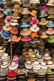 Hat Stall, Pisac Textiles Market, Sacred Valley, Peru, South America Photographic Print by Ben Pipe