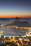 View of Sugarloaf Mountain and Botafogo Bay at Dawn, Rio De Janeiro, Brazil, South America Photographic Print by Ian Trower