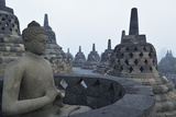 Borobodur, UNESCO World Heritage Site, Kedu Plain, Java, Indonesia, Southeast Asia, Asia Photographic Print by Jochen Schlenker