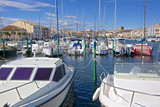 Boats in Marina, Meze, Herault, Languedoc Roussillon Region, France, Europe Photographic Print by Guy Thouvenin