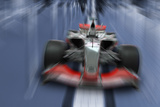 Speeding Formula One Car - Speed Concept Photographic Print by  Akhilesh