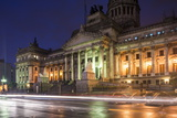 Palacio Del Congreso at Night, Buenos Aires, Argentina, South America Photographic Print by Ben Pipe