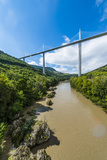 Millau Viaduct over the River Tarn, Millau, Midi-Pyrenees, France, Europe Photographic Print by Karl Thomas