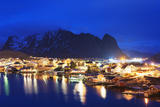Reine Waterfront, Moskenesoy, Lofoten Islands, Norway, Scandinavia, Europe Photographic Print by Christian Kober