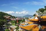 View of Pangkor Town and Fu Lin Kung Temple, Pulau Pangkor (Pangkor Island), Perak, Malaysia, Asia Photographic Print by Jochen Schlenker