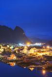 Reine Waterfront, Moskenesoy, Lofoten Islands, Norway, Scandinavia, Europe Photographic Print by Christian Kober