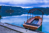 Pletna Rowing Boat, Lake Bled, Bled, Gorenjska, Upper Carniola Region, Slovenia, Europe Photographic Print by Matthew Williams-Ellis