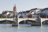 Mittlere Rheinbrucke Bridge and Cathedral Photographic Print by Markus Lange