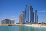 Etihad Towers, Abu Dhabi, United Arab Emirates, Middle East Fotografiskt tryck av Jane Sweeney