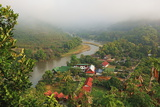 View of Tha Ton and Kok River, Chiang Mai Province, Thailand, Southeast Asia, Asia Photographic Print by Jochen Schlenker