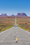 Long Road Leading into the Monument Valley, Arizona, United States of America, North America Photographic Print by Michael Runkel
