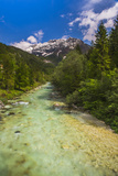 Soca River and Julian Alps in the Soca Valley Photographic Print by Matthew Williams-Ellis