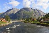 Eidfjord River Rapidly Flows into Eidfjorden, Hordaland, Hardanger, Norway, Scandinavia, Europe Photographic Print by Eleanor Scriven