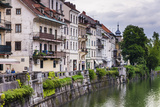 Old Houses on the Ljubljanica River Front, Old Town, Ljubljana, Slovenia, Europe Photographic Print by Matthew Williams-Ellis