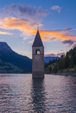Bell Tower in Lagio Di Resia (Reschensee), South Tyrol, Italy, Europe Photographic Print by Karl Thomas