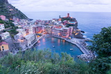 High Angle View of Vernazza, Cinque Terre, UNESCO World Heritage Site, Liguria, Italy, Europe Photographic Print by Peter Groenendijk