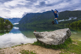 Tourist Visiting Lake Bohinj, Triglav National Park, Julian Alps, Slovenia, Europe Photographic Print by Matthew Williams-Ellis