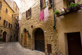 Street in Old Town, Volterra, Tuscany, Italy, Europe Photographic Print by Peter Groenendijk