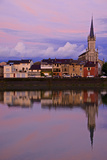 Yonne Riverbanks, Sunset, Auxerre, Yonne, Bourgogne (Burgundy), France, Europe Photographic Print by Guy Thouvenin