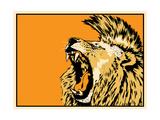 Lion Reproduction procédé giclée par Billy Perkins