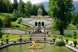 Gardens at the Palace of Linderhof, King Ludwig the Second's Royal Villa, Bavaria, Germany, Europe Photographic Print by Robert Harding