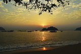 Sunset at Nipah Bay and Coral Island, Pulau Pangkor (Pangkor Island), Perak, Malaysia, Asia Photographic Print by Jochen Schlenker