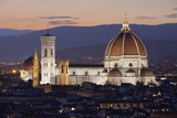 Duomo at Night from Piazza Michelangelo, Florencetuscany, Italy, Europe Fotografie-Druck von Stuart Black