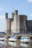 Caernarfon Castle, UNESCO World Heritage Site, Caernarfon, Wales, United Kingdom, Europe Photographic Print by Peter Groenendijk