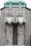 Art Nouveau Statues Designed by Emil Wikstrom at Rautatieasema Train Station Photographic Print by Christian Kober