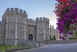Windsor Castle in the Morning with Flowers in Hanging Baskets, Windsor, Berkshire, England Photographic Print by Charlie Harding