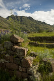 View from Inca Citadel of Pisac Ruins, Pisac, Sacred Valley, Peru, South America Photographic Print by Ben Pipe