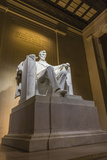 Interior of the Lincoln Memorial Lit Up at Night Photographic Print by Michael Nolan