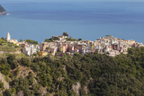 The Village of Corniglia in the Cinque Terre, UNESCO World Heritage Site, Liguria, Italy, Europe Photographic Print by Julian Elliott