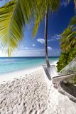 Hammock on Tropical Beach, Maldives, Indian Ocean, Asia Photographie par Sakis Papadopoulos