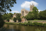 Worcester Cathedral and the River Severn, Worcester, Worcestershire, England Photographic Print by Stuart Black