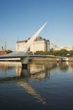Puente De La Mujer (Bridge of the Woman), Puerto Madero, Buenos Aires, Argentina, South America Photographic Print by Ben Pipe
