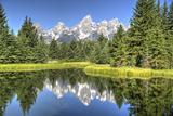 Water Reflection of the Teton Range Photographic Print by Richard Maschmeyer