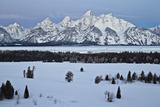 Teton Range at Dawn in the Winter Photographic Print by James Hager