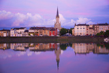 Yonne Riverbanks at Sunset, Auxerre, Yonne, Bourgogne (Burgundy), France, Europe Photographic Print by Guy Thouvenin