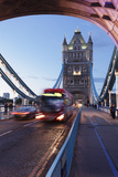 Red Bus on Tower Bridge, London, England, United Kingdom, Europe Photographic Print by Markus Lange