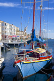 Boats in Harbor, Meze, Herault, Languedoc Roussillon Region, France, Europe Photographic Print by Guy Thouvenin