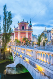 Franciscan Church of the Annunciation and Bridge over the Ljubljanica River Photographic Print by Matthew Williams-Ellis