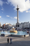 Trafalgar Square with Nelson's Column and Fountain, London, England, United Kingdom, Europe Photographic Print by Markus Lange