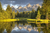 Water Reflection of the Teton Range Photographic Print by Richard Maschmeyer